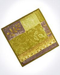 Elegant Silk Jacquard Patchwork Print Scarf