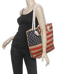 American Flag Beach Bag `