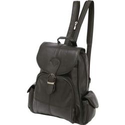 Brand New Black Backpack Purse in Leather