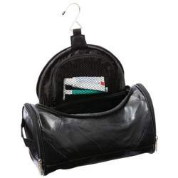 Nice Black Leather Toiletry Makeup Bag