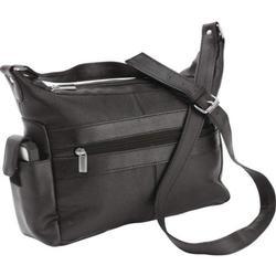Black Leather Ladies Handbag Tote Bag