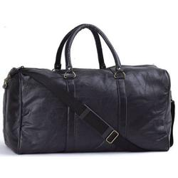 Brand New 21in Black Leather Carry On Luggage