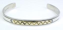Designer 14K/Sterling Cuff Bracelet