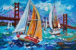 Spectacular Rafael Boats By The Golden Gate Bridge