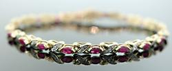 Ruby & Diamond X Link Bracelet
