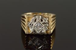 0.30 CT Diamond Mason Men's Vintage Ring