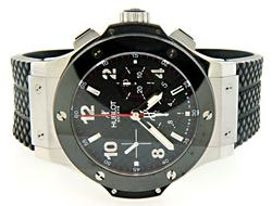 Hublot Big Bang Carbon/Ceramic Watch, Box & Papers