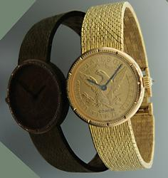 CORUM $5 US GOLD HALF EAGLE COIN WATCH
