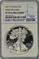 Flawless 2017-W PRF $1 Early Release NGC PF70 Ultra Cameo