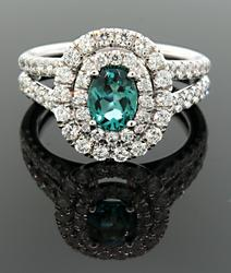 18K Blue Tourmaline & VS Diamonds at 1.5 CTW