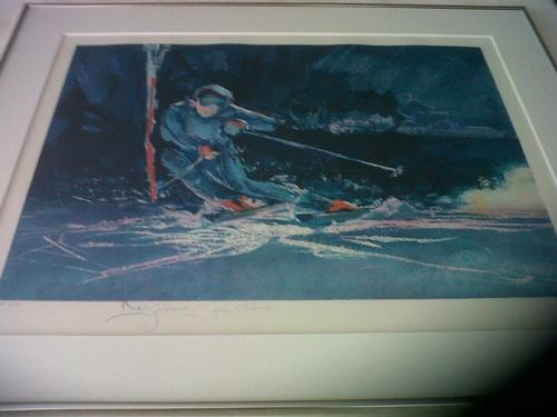 Slalom Skiing Ltd Ed Frmed.Litho # 9-9 Signed by Artist
