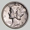 1942/1 ERROR Mercury Silver Dime, Super Quality