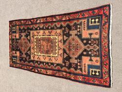 Unusual Design Handmade Authentic Vintage Persian Rug