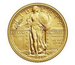 STANDING LIBERTY 2016 CENTENNIAL GOLD QUARTER COIN