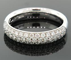 PAVE DIAMOND DOMED RING IN 18K