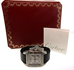Cartier Santos XL with Diamond Bezel