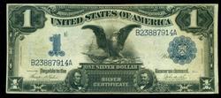 Nice 1899 Series Large Size $1 Black Eagle Silver Cert