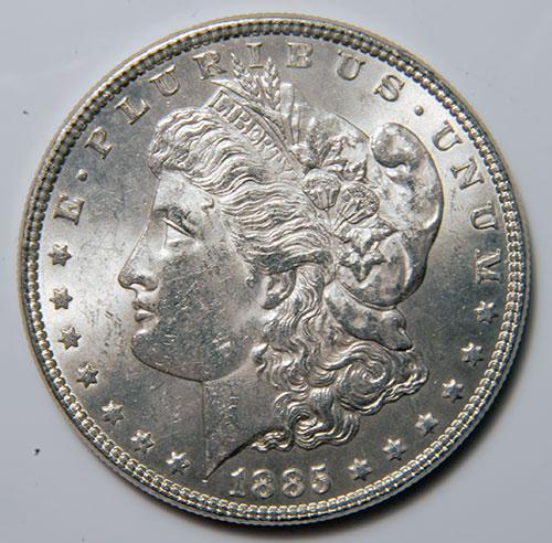 1885 Morgan Silver Dollar AU/UNC