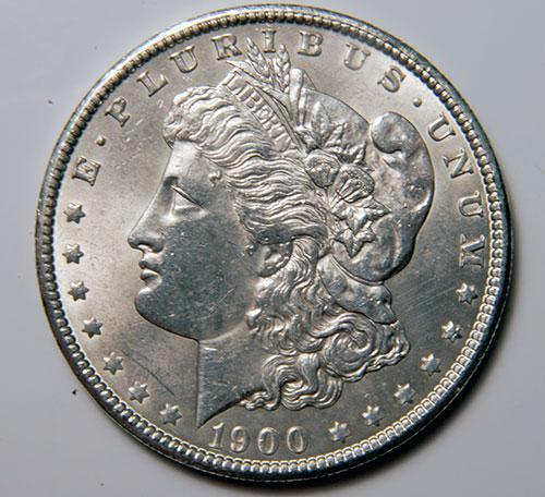 1900 Morgan Silver Dollar AU/UNC