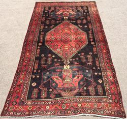 Very Rare & Unique Design High Quality Vintage Persian Qoltoq Rug