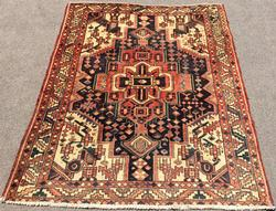 Inspiring Mid Century Authentic Handmade Vintage Persian Ferahan