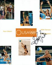 Kerri Walsh Autographed Signed 8x10 2004 Olympic Promo