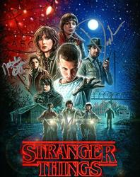 Stranger Things Cast Autographed Signed X4 8x10 Photo +
