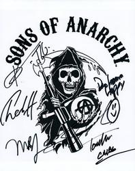 Sons Of Anarchy SOA Cast Autographed X6 8x10 Photo AFTA