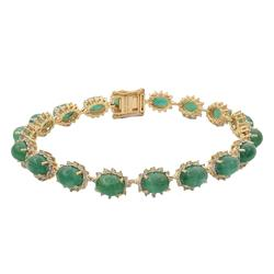 Emerald & Diamond Bracelet, 19.76ctw