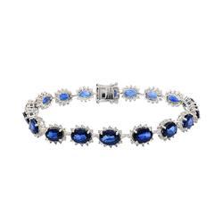Exquisite 16.55 ctw. Sapphire Bracelet