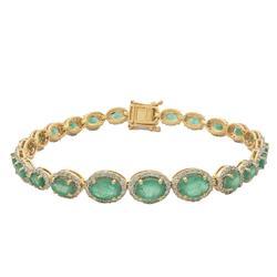 Great Quality 7+ctw Emerald & Diamond Bracelet