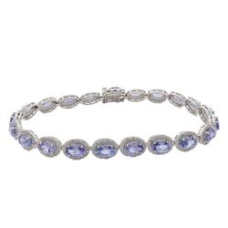 Tanzanite & Diamond Bracelet, 10.35 cttw