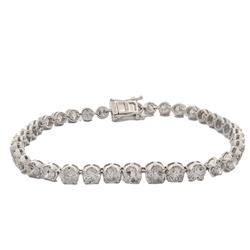 8.55ctw. Diamond Tennis Bracelet in Yellow Gold
