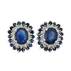 Lovely 6.63ctw. Sapphire Earrings