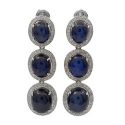 Captivating 27.38ctw Sapphire Earrings