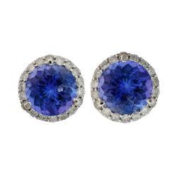 Lovely Tanzanite and Diamond Earrings