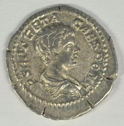 Great Roman Silver Denarius of Geta, 209-211 AD
