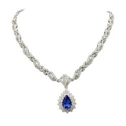 Simply stunning 2.40ctw. Tanzanite and Diamond Necklace
