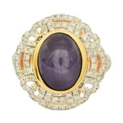 Striking 6.28ctw. Ruby & Diamond Ring