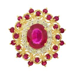 Fascinating 4.39ctw. Ruby & Diamond Ring