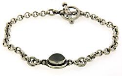 Vintage Sterling Silver Rolo Link Bracelet