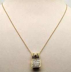 Fancy 1ctw Diamond 14kt Gold Chain