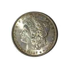 Gem BU 1887 Morgan Silver Dollar
