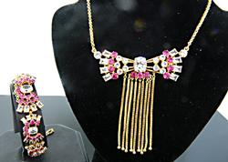 Phenomenal 18kt Gold Necklace & Bracelet Set