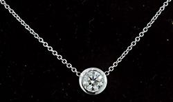 Stylish Diamond Solitaire Necklace