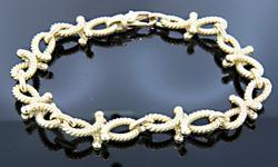 18K gold Cable Link Bracelet
