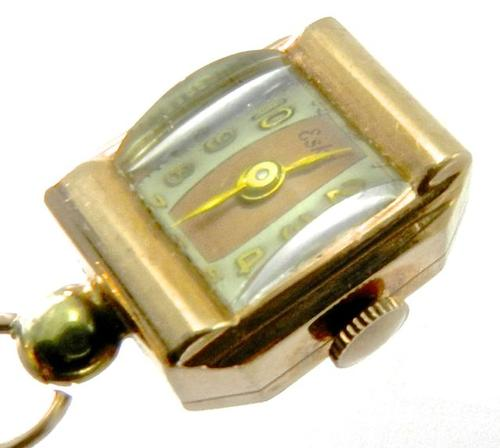 Art deco 14k rose gold pendant watch for Deco maison rose gold