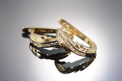 Diamond Clip Earrings Half Hoop Earrings