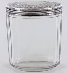 STERLING AND CRYSTAL SOAP JAR