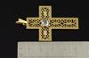 18K  Gold 0.50 CT Rose Cut Diamond Cross Pendant